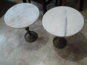 Brass and Marble Table Set - $50