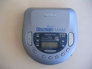 Sony-Discman-FM-AM-30-Presets-Portable-CD-Player-D-T405-Tested-W