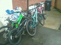 7 bikes all different make's