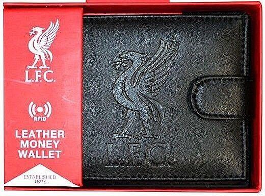 Liverpool FC Rfid Echtleder Fußball Sport Geldbeutel Geldbörse Lfc Geschenk