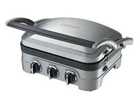 Cuisinart Grill with removable plates for washing and floating hinges for thicker items
