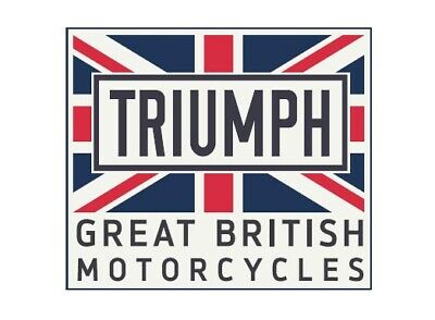 GENUINE TRIUMPH MOTORCYCLE UNION JACK PATCH IRON ON PATCH BADGE EMBROIDERED