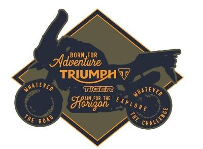 GENUINE TRIUMPH MOTORCYCLE TIGER BIKE PATCH IRON ON PATCH BADGE EMBROIDERED