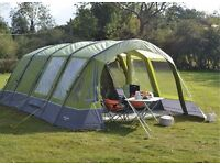 Vango Inspire 600 6 Berth AirBeam Tent with carpet,footprint and extension groundsheet *BRAND NEW*
