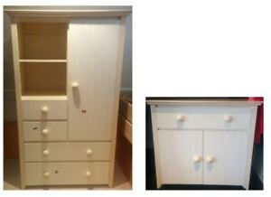 Pottery Barn Style Baby Furniture (Wardrobe & Change Table)