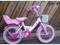 Girls 14 inch bicycle perfect condition seldom used suit around 5 years old £35.