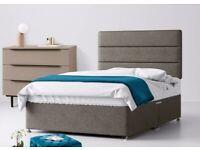 Single Divan Bed, Headboard & Orthopaedic Mattress VGC
