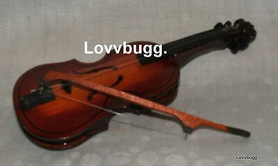 "Lovvbugg New Violin with Bow for 15"" - 18"" American Girl Doll Accessory"
