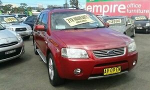 2007 Ford Territory SY Ghia Burgundy Auto Sports Mode Wagon Lidcombe Auburn Area Preview