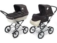 Silver cross sleepover complete travel system pram,with stand