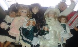 Porcelain dolls leonardo collection christmas bundle