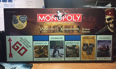 Pirates of the Caribbean Monopoly Trilogy Edition Sealed NIB 2007 Parker Bros