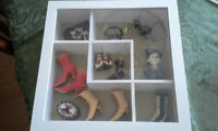 SHADOW BOX WITH MINIATURE SHOES