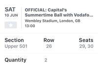 2x summer time ball tickets