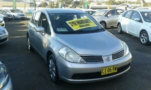 2008 Nissan Tiida C11 MY07 ST Silver 4 Speed Automatic Hatchback Lidcombe Auburn Area Preview