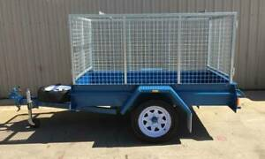 KESSNER TRAILER 7X4 HEAVY DUTY COMMERCIAL BOX TRAILER WITH CAGE Pooraka Salisbury Area Preview