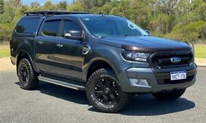 2015 Ford Ranger PX MkII XLT 3.2 (4x4) Grey 6 Speed Automatic Double Cab Pick Up Cannington Canning Area Preview