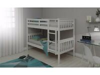 BRAND NEW WHITE WOODEN BUNK BED