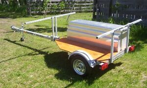 2-PLACE CANOE / 4 Kayak Trailer - OPTIONAL Aluminum Storage Box
