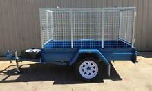 KESSNER TRAILES 7X4 H/DUTY SINGLE AXLE TRAILER WITH GALV CAGE Pooraka Salisbury Area Preview