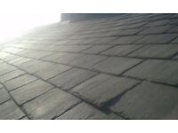 "Welsh slate reclaimed roof tiles 24""x14"" - approx 1000 in really good condition"