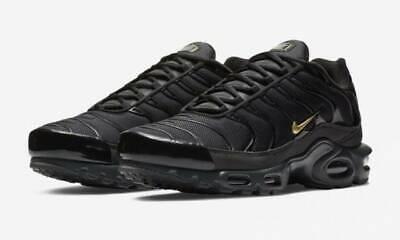 Nike Running Footlocker (Nike TN Air Max Plus Black Gold Footlocker Exclusive BQ3169-002 Running Shoes DS )
