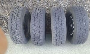 "Full Set of 15"" Winter Tires on Wheels for Sale"