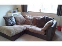 Corner sofa. 10 months old - can deliver