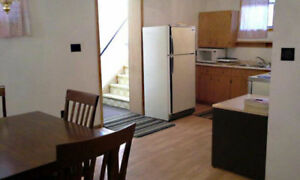 Large two bedroom apartment, fridge/stove, washer/dryer.