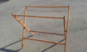 ANTIQUE VINTAGE WOOD- BLANKET- QUILT- RACK / DRYING STAND