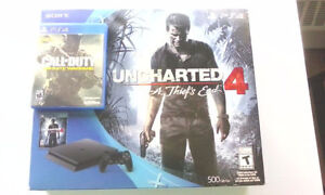 PS4 Slim 500GB - Uncharted 4 + Call of Duty Infinite Warfare