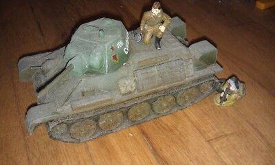 king & country world war II russian  RA04 - T34 Tank w/2 Riders ra004 soviet