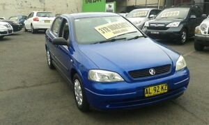 2004 Holden Astra TS MY03 CD Blue 4 Speed Automatic Hatchback Lidcombe Auburn Area Preview
