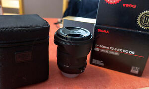 Sigma 17-50 f/2.8 Nikon mount - with box and case