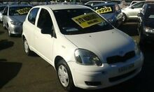 2003 Toyota Echo NCP10R MY03 White 4 Speed Automatic Hatchback Lidcombe Auburn Area Preview