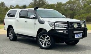 2017 Toyota Hilux GUN126R SR5 (4x4) White 6 Speed Automatic Dual Cab Utility Cannington Canning Area Preview