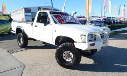 1996 Toyota Hilux LN106R White 5 Speed Manual Utility