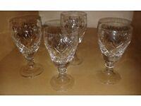 5 beautiful sherry glasses