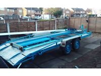 Car trailer 16.ft x 6.ft twin axle