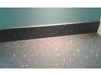 2 worktops solid surface composite corian and upstand