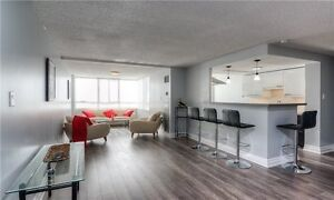 Beautifully Renovated 2 B/R, 2 W/R Pent House at Hurontario/Stee