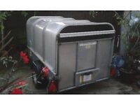 Ifor Williams P6e Trailer with Rear Ramp and Galvanised Hard Top