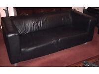 Black Leather Ikea Sofa x 2!