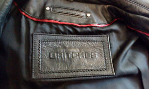 3/4 Length Mens leather coat made by Britches