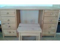 Working desk/ Scandinavian 8 drawers dress table.