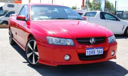 2007 Holden Ute VZ MY06 SVZ Red 5 Speed Automatic Utility