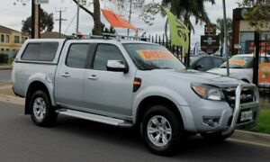 2010 Ford Ranger PK XLT (4x4) Silver 5 Speed Automatic Dual Cab Pick-up Klemzig Port Adelaide Area Preview