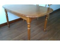 Dining Table 6-8 seating, Golden Pine, Country Style