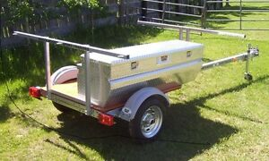 2 Place Canoe Galvanized Trailer - Optional Aluminum Storage Box