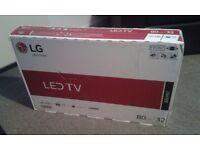 lg 32in led tv new in box